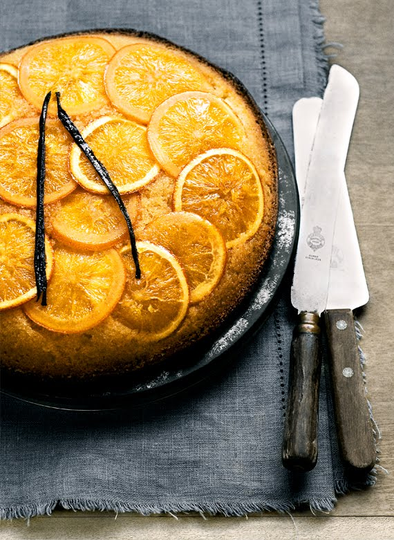 an orange and vanilla upside down cake - a recipe from the Donna Hay ...