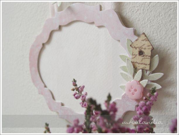 ramka na zdjęcie dla dziewczynki - scrapbooking ushii