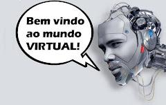 Logotipo do Bem vindo ao mundo virtual! completo