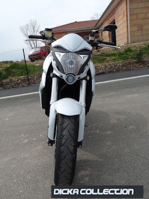 Honda CB1000R White Tribal Street Fighter 1