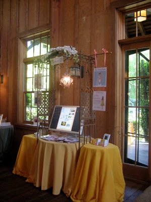 Here was our Flirty Booth display at a recent bridal showcase hosted on the