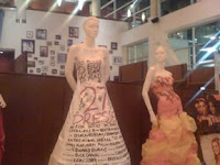 2 of the dresses on display at the Arclight, Hollywood