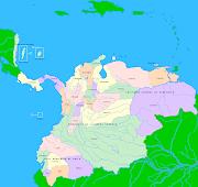 Este es el mapa de Colombia en la epoca de 1810. (colombia mapa grande)