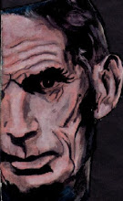 Retrato de S. Beckett.