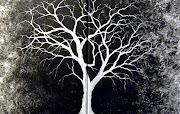 White Tree Original Painting. Posted by IntrovertedWife on Thursday, .