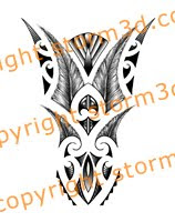 maori inspired lower arm tattoo with feathers