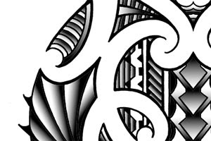 shoulder tattoo in maori style