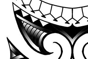 tribal lower arm tattoo