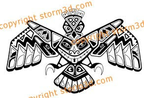 upper back tattoos haida style