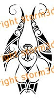 angel guardian in maori tribal tatoos