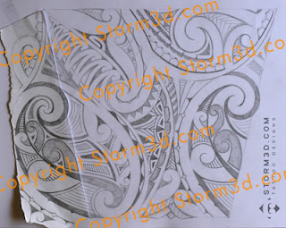 forearm maori kirituhi style tattoo
