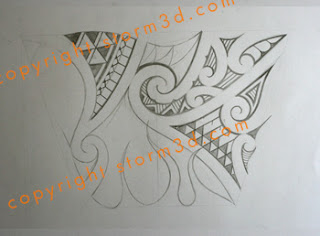 flames tattoo for the lower arm tribal style