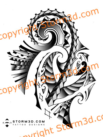 Maori Samoan tattoo design for the shoulder