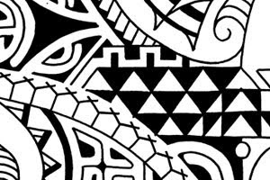 Polynesian shoulder tattoo mix flash