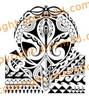 polynesia tribal shoulder tatoo flash