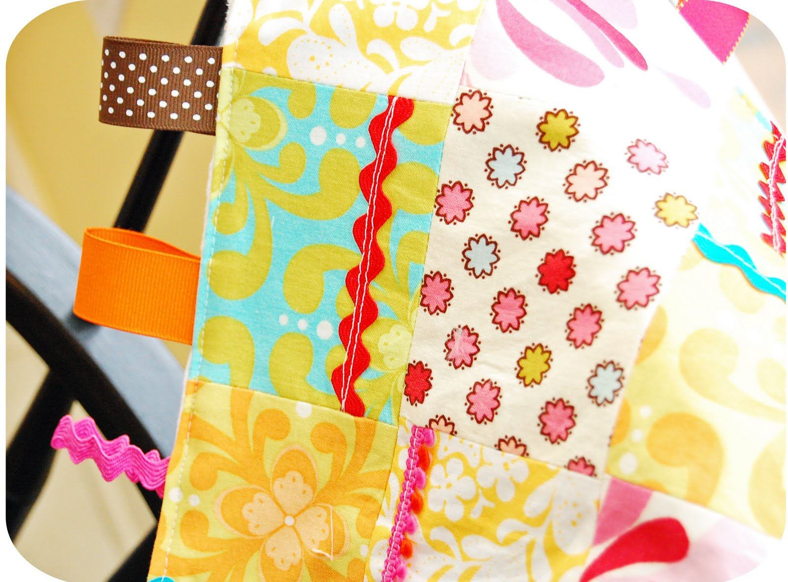 how to make a blanket with ribbon trim