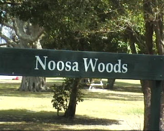 noosa woods sign queensland australia