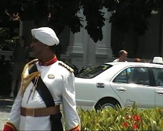 Raffles Hotel Singapore Guard