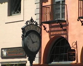 oldtown clock, santa barbara, california
