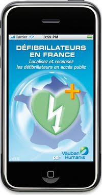 application iphone defibrillateurs en france de vauban humanis