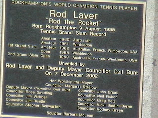 Statue of Rodney George (Rod) Laver, Rockhampton, Central Queensland, Australia