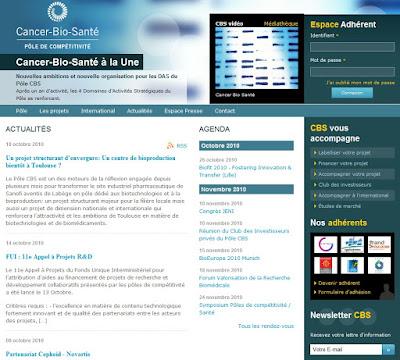 Pôle Cancer-Bio-Santé nouveau site web www.cancerbiosante.fr