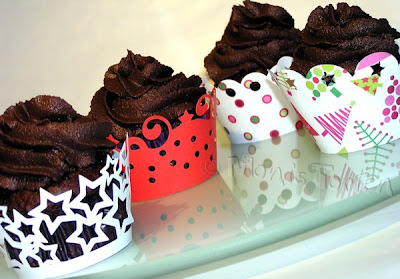 Cupcakes mit Wrappern
