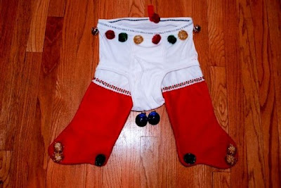 santa stocking underpants