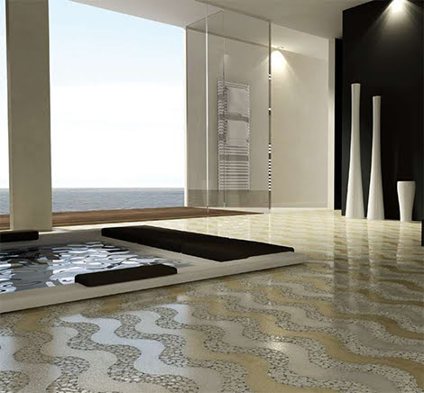 Imagine the world natural stone floor for Bathroom design samples