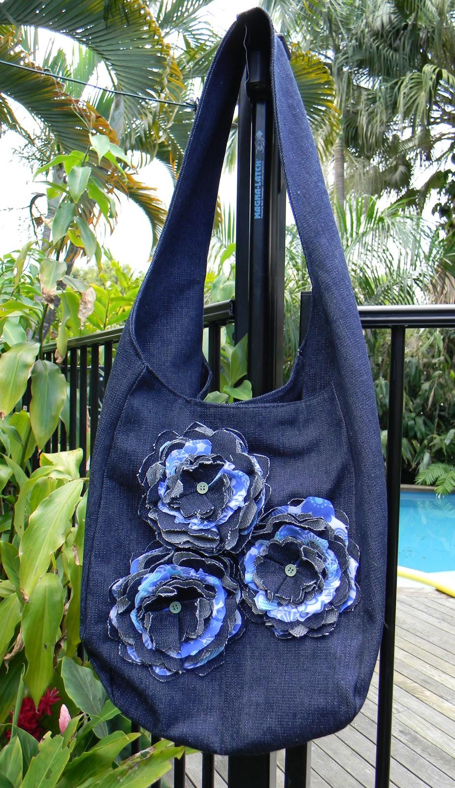 Tote Bag Pattern: Denim Hobo Bag Free Patterns