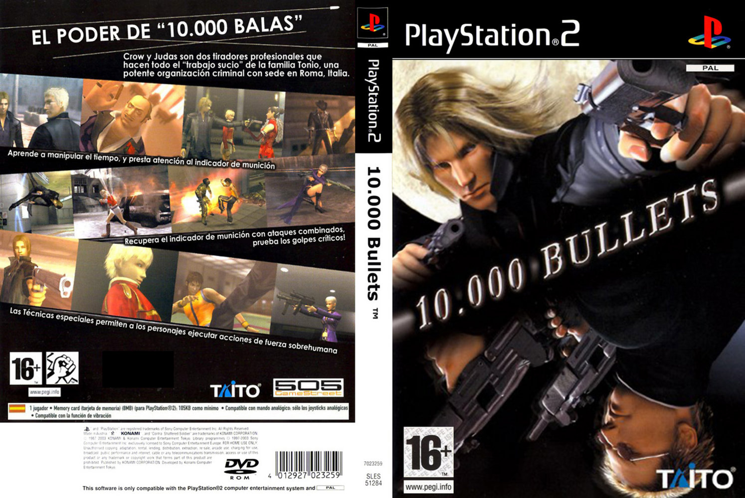 capas para playstation 2  10000 bullets