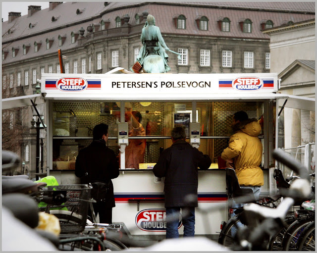 Danish hot dog stand polsevogn street food