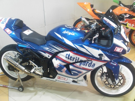 kawasaki ninja 250r blue. kawasaki ninja 250 fairing