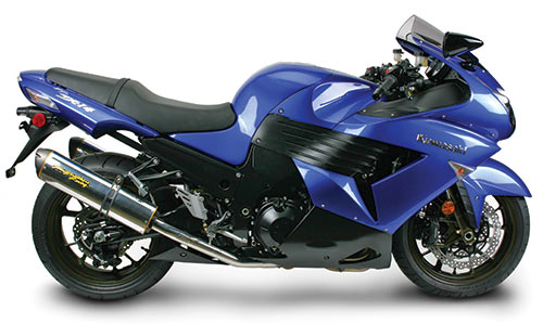 The Kawasaki Ninja ZX14 also