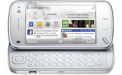 Nokia N97 White open