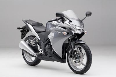 Silver Honda CBR 250R