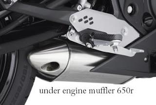 2011 Kawasaki Ninja 650R muffler/exhaust