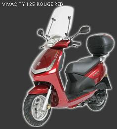 Scooter Peugeot 125 - VIVACITY 125cc red