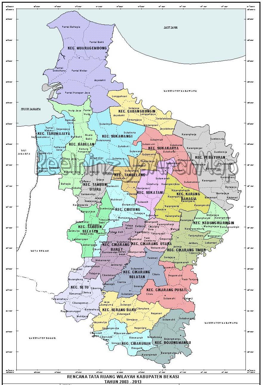 Bekasi Indonesia Map