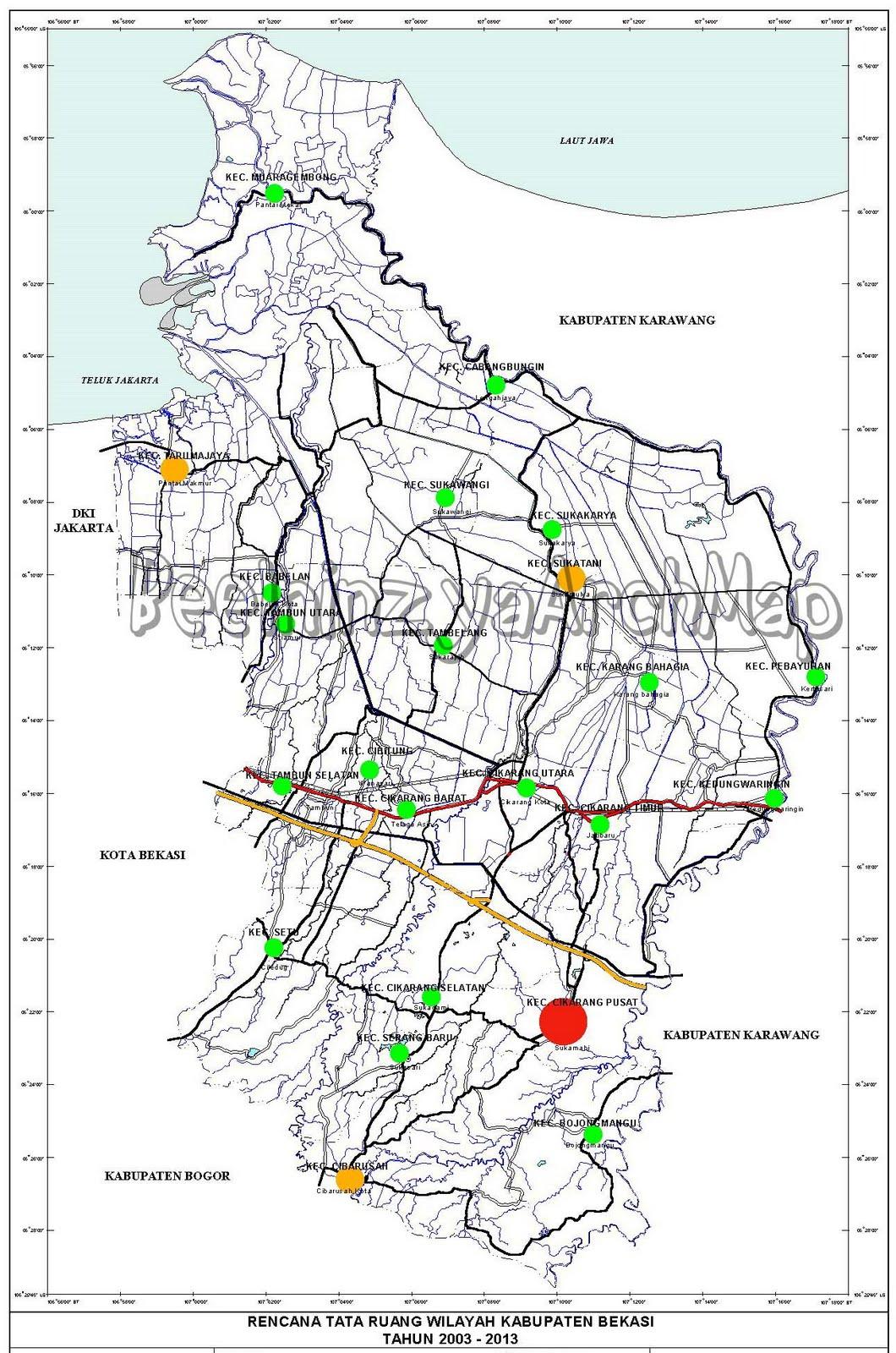 Peta Sistem Kota Pola Ruang Karawang