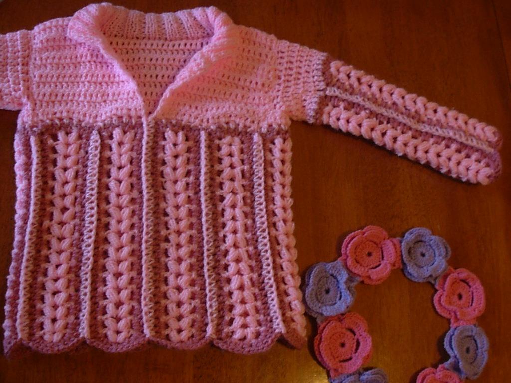 Sueter Tejido A Crochet Para Bebes - Bronze Cardigan