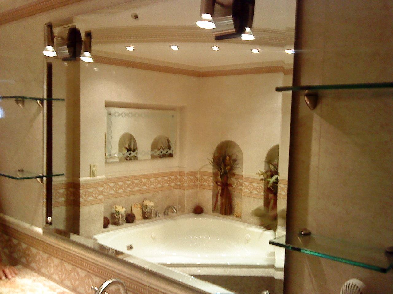 Arenados y vitrales espejos para ba o y estancias - Espejos retroiluminados bano ...