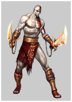 LOS CHICOS SEXYS DE VIDEOJUEGOS Kratos
