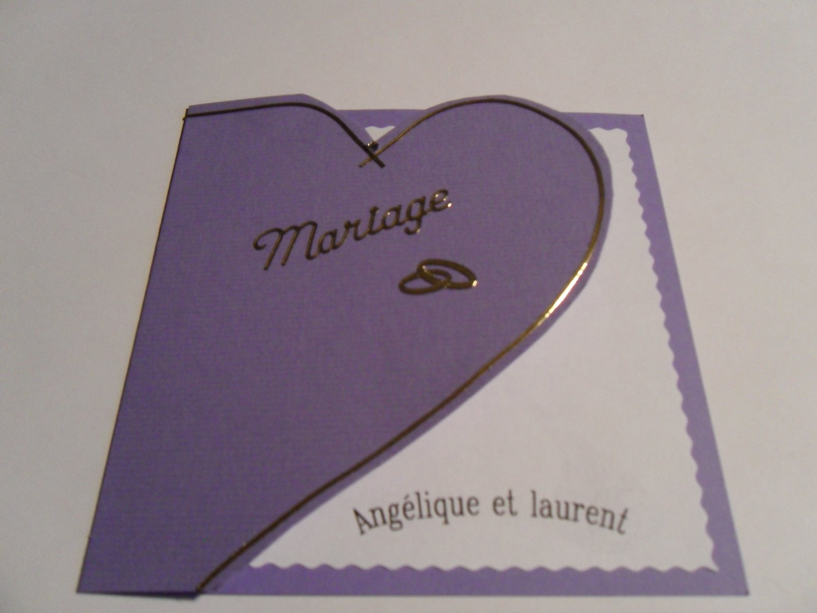 Hervorragend les creations de rose: carte mariage BY49
