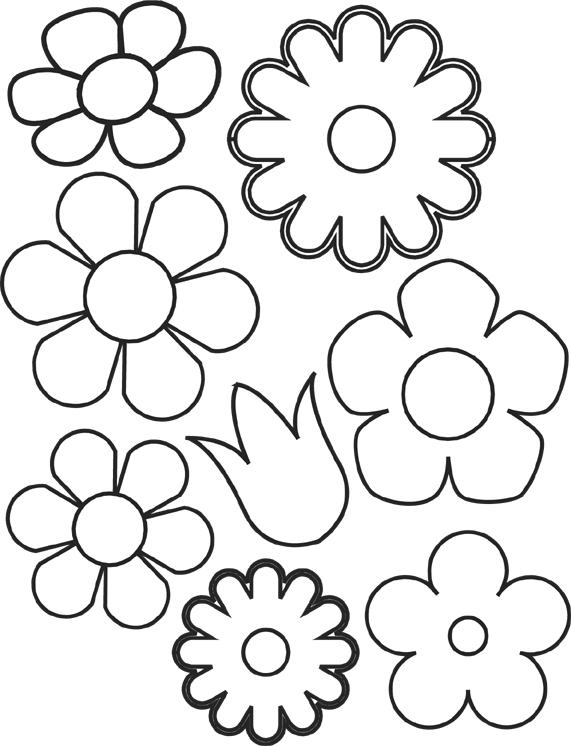Moldes de flores em eva, ou em feltro,,,