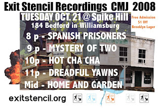 Cleveland's Exit Stencil Recording CMJ Showcase is at Spike Hill on October 21st