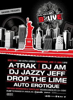 BACARDI's B-LIVE Tour Hits NYC Tomorrow Night