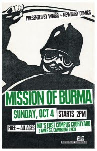 Eula Opens for Mission of Burma at MIT on October 4th