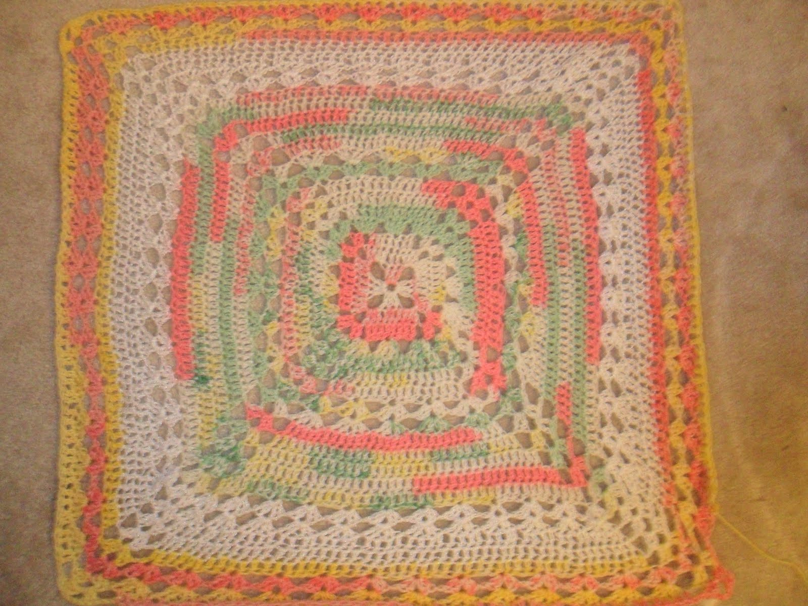 Knitted Afghan Square Patterns : Valis Knitting Moment: Lacy Square Afghan Project