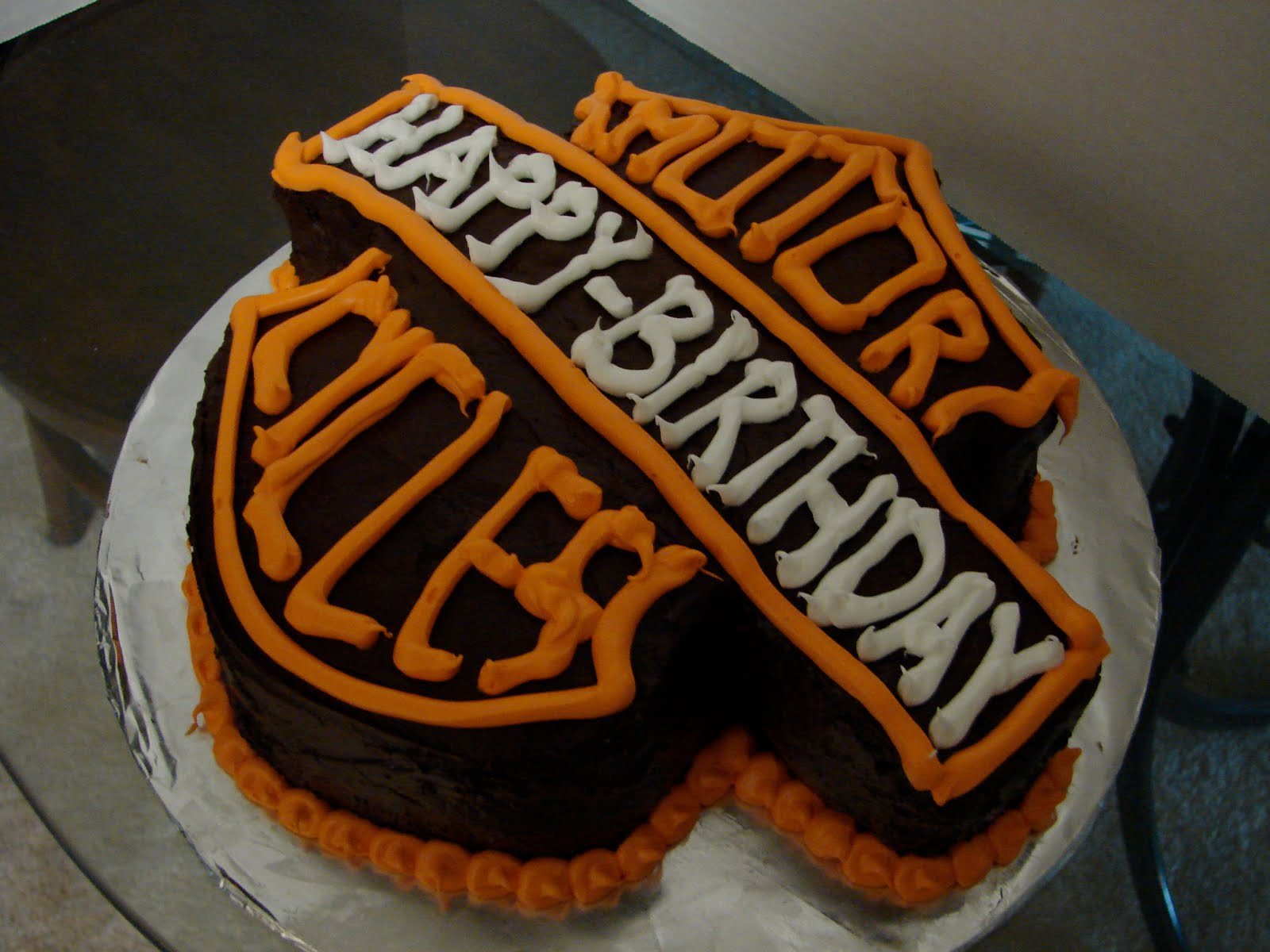 Sarahs Sweet Treats Harley Davidson Birthday Cake
